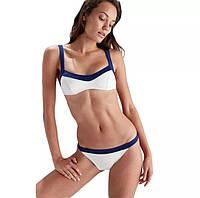 Белый женский раздельный купальник в стиле PEPE JEANS размер М, фото 1