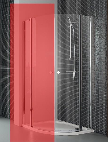 Права частина душової кабіни Radaway Eos II PDD 90, прозоре (3799471-01R)