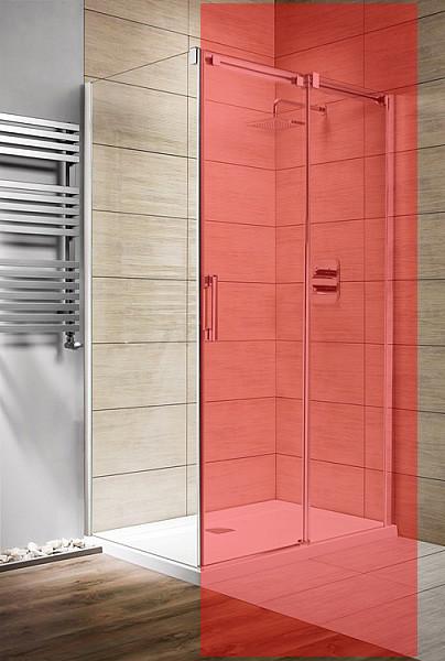 Стінка для душової кабіни Radaway Espera KDJ S 800 ліва, прозоре (380148-01L)