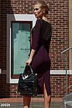 Облегающее платье миди с вставками из эко-кожи, фото 2
