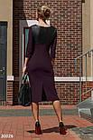 Облегающее платье миди с вставками из эко-кожи, фото 3