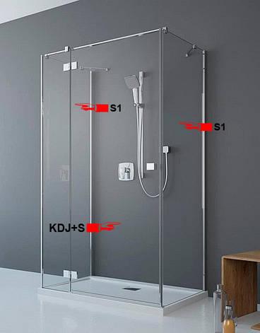 Двері для П-подібної душової кабіни Radaway Essenza New KDJ+S 90 ліві (385020-01-01L), фото 2
