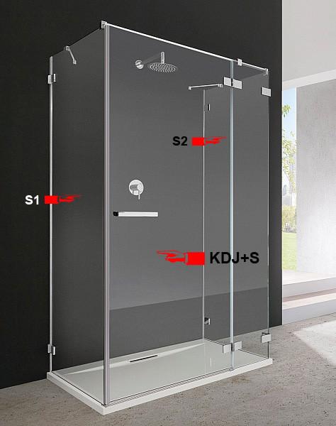 Двері для душової кабіни Radaway Euphoria KDJ+S 80 праві (383021-01R)