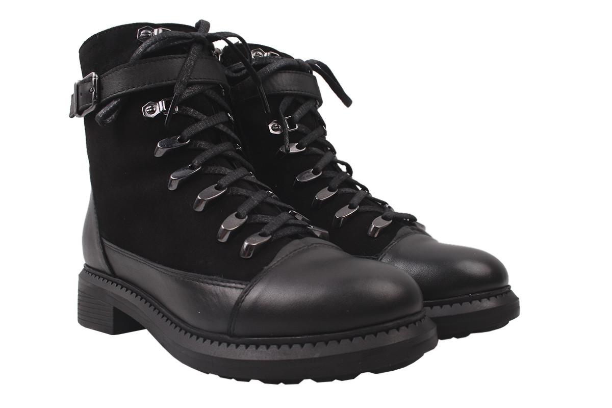 Ботинки зимние Kesim натуральная кожа + замш, цвет черный, размер 36-42, Турция