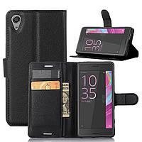 Чехол-книжка Litchie Wallet для Sony Xperia X F5122 Черный