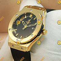 Часы Hublot Big Bang Leather Strap Black/Gold/Black