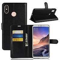 Чехол-книжка Litchie Wallet для Xiaomi Mi Max 3 Черный