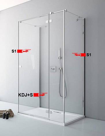 Двері для П-подібної душової кабіни Radaway Fuenta New KDJ+S S 100 праві (384022-01-01R), фото 2