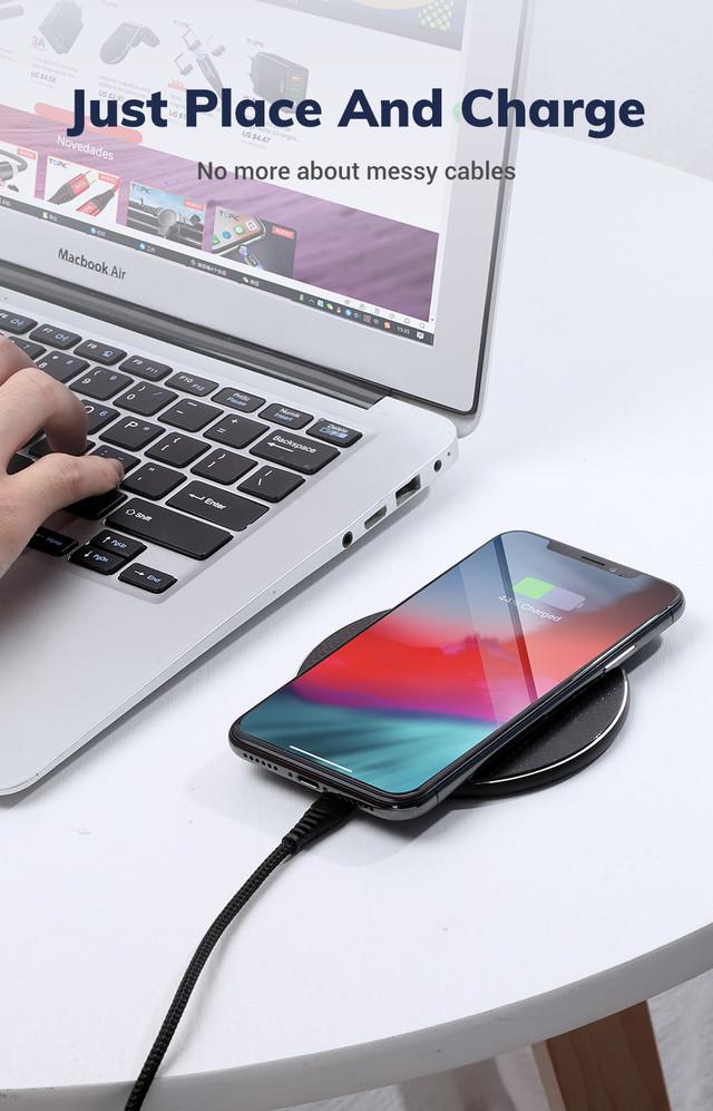 бездротове зарядний пристрій Topk Wireless Charger B01W Чорне Червоне