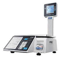 Весы торговые с печатью этикетки CAS CL-3500-J-IP