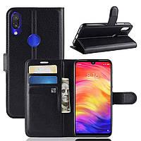 Чехол-книжка Litchie Wallet для Xiaomi Redmi Note 7 Черный