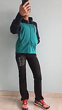 Костюм женский спортивный турецкого производства бирюзовый