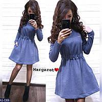 Стильное платье - клеш на флисе арт 0368