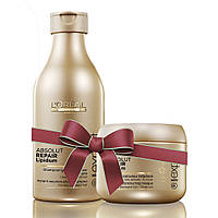 Шампунь+маска для ломких волос  L'OREAL PROFESSIONNEL Absolut Repаir GOLD
