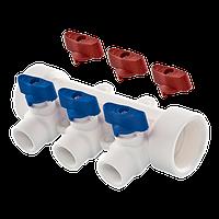 Коллектор универсальный ППР 25 х 20 х 4 выхода Tebo белый