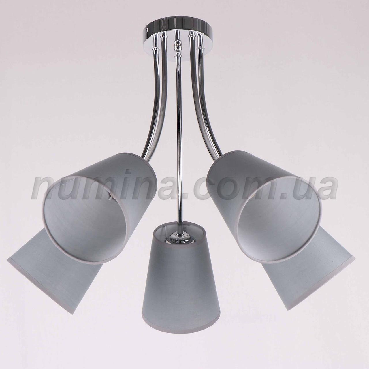Люстра потолочная на 5 ламп 29-K186/5 CR+BR