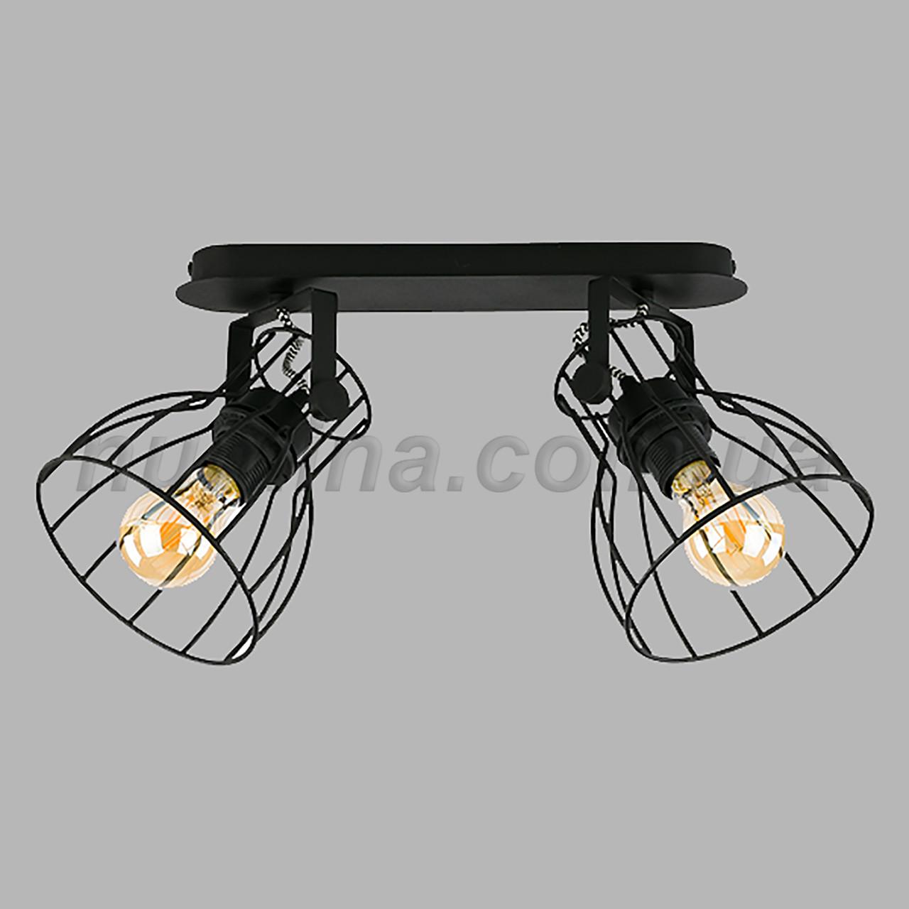 Люстра потолочная на две лампы 29-3122/2 BK+BK