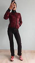 Костюм женский спортивный турецкого производства красный с черным