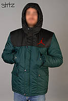 Зимняя мужская парка-куртка с капюшоном, чоловіча зимова парка Nike Air Jordan, Реплика