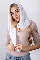 Торжественные шарфы женский Платок Келлая белый 90*90 (PVC-1915)