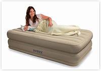 Надувная кровать Intex 67742 (102х203х38 см. ) + встроенный насос 220V.