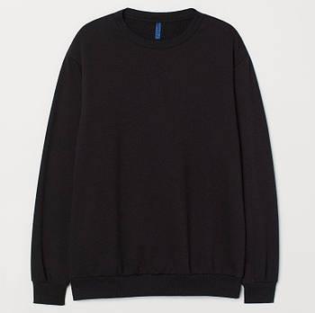 Однотонный свитшот мужской размер XL, цвет ЧЕРНЫЙ