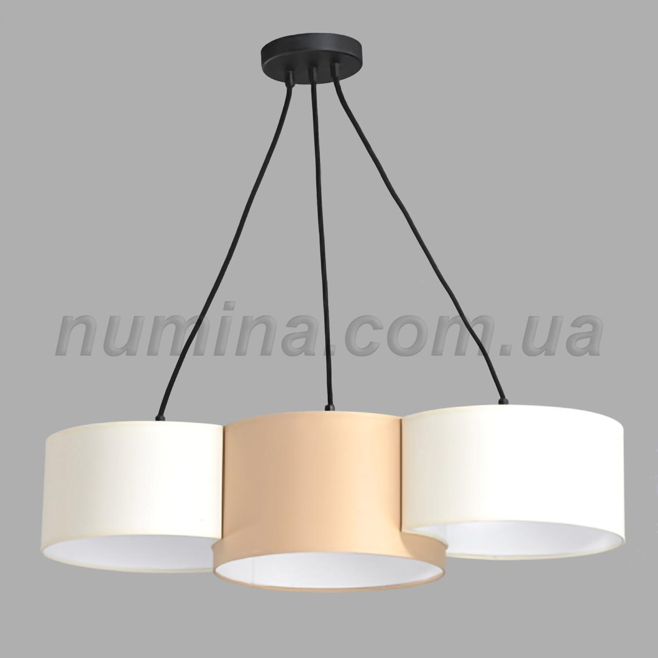 Люстра підвісна на 3 лампи 29-H161/3A BK+BR+WT
