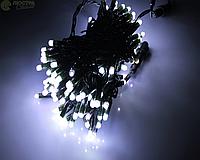 Гирлянда Белая холодная черный шнур (уличная)10м G082