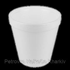 Супниця Пінополістирол 690мл. (20шт/рукав)Висота 11,5 см, Діаметр: низ-7,5 см, верх-11,3 см (1ящ/20шт)