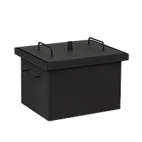 Коптильня горячего копчения Дид Коптенко малая с покраской (380X320X300), фото 1
