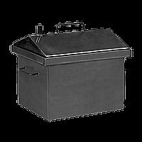 Коптильня горячего копчения Дид Коптенко малая с крышкой домиком (380X320X360), фото 1