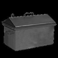Коптильня горячего копчения Дид Коптенко средняя с крышкой домиком (590x360x390), фото 1