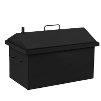 Коптильня горячего копчения Дид Коптенко средняя с крышкой домиком и покраской (590хШ360хВ390), фото 1