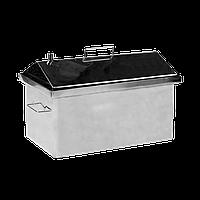 Коптильня горячего копчения Дид Коптенко средняя с крышкой домиком нержавейка (590x360x390), фото 1