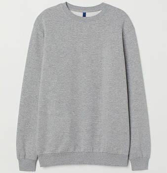 Однотонный свитшот мужской размер XS, цвет МЕЛАНЖ