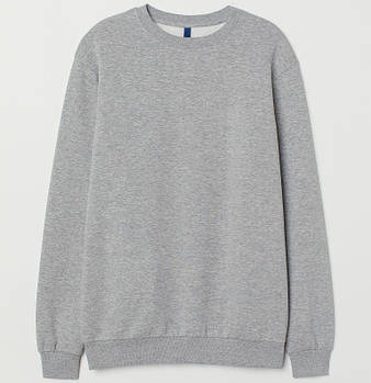 Однотонный свитшот мужской размер L, цвет МЕЛАНЖ