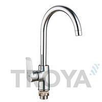 Смеситель для кухни Troya FOB4 (FOB4-A134) однорычажный с высоким изливом цвет хром,смеситель Троя