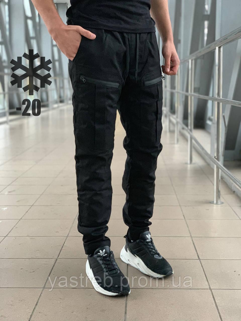 Штаны Straight (Зима) Черный, фото 1