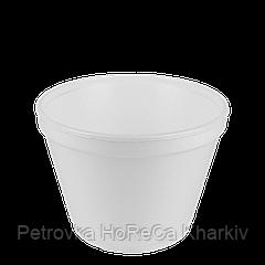 Супница Пенополистирол 450мл. (25шт/рукав)Высота 8,25 см, Диаметр: низ-7,5 см, верх-11,3 см(1ящ/20шт)
