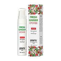 Имбирь и личи - Стимулирующий гель - EXSENS Kissable Fresh Ginger Litchi, 15ml