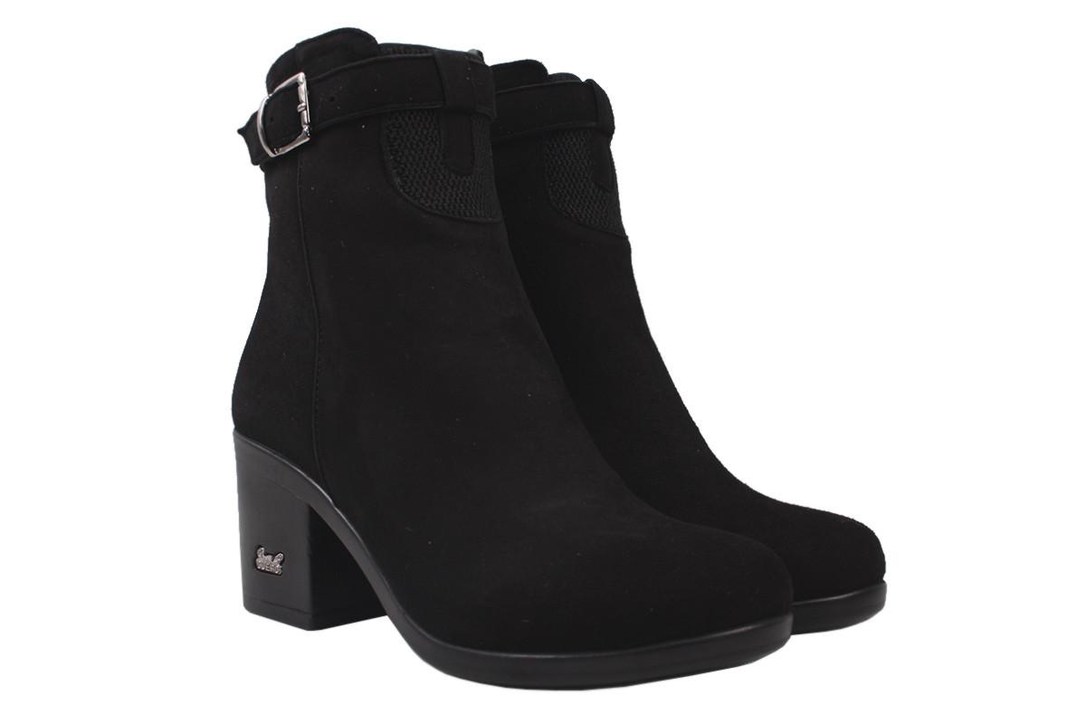 Ботинки женские зимние Guero натуральный замш, цвет черный, размер 34-40, Турция