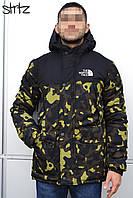 Зимняя камуфляжная мужская парка-куртка с капюшоном, чоловіча зимова парка The North Face, Реплика