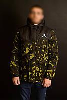 Зимняя камуфляжная мужская парка-куртка с капюшоном, чоловіча зимова парка Nike Air Jordan, Реплика