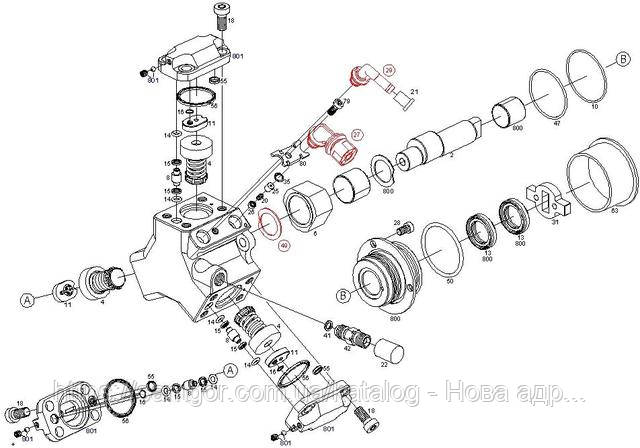 Переходник топливной трубки Opel Combo 1.3 CDTI (2004-2011