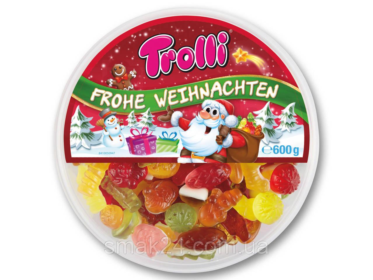 Желейные конфеты Trolli  РОЖДЕСТВЕНСКИЙ МАРМЕЛАД Германия 600г