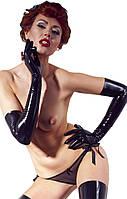 Соблазнительные ручки - Латексные перчатки - Latex Handschuh chloriert, цвет: черный