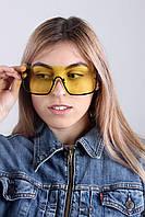 Солнцезащитные очки  Солнцезащитные женские очки 1632 желтые Общая ширина 14.5(см)/ Высота линзы 5.5(см)/ Ширина линзы 6.7(см) (1632)
