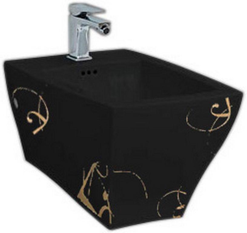 Підвісне біде ArtCeram Jazz, gold lettering black (JZB0010306)