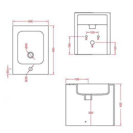 Підлогове біде ArtСeram Block, black lettering (BKB0020103), фото 2