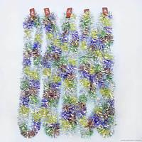 Новогоднее украшение дождик голографический 12 штук